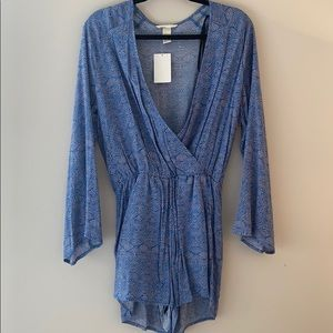 Blue H&M Long Sleeve Romper - Size 6